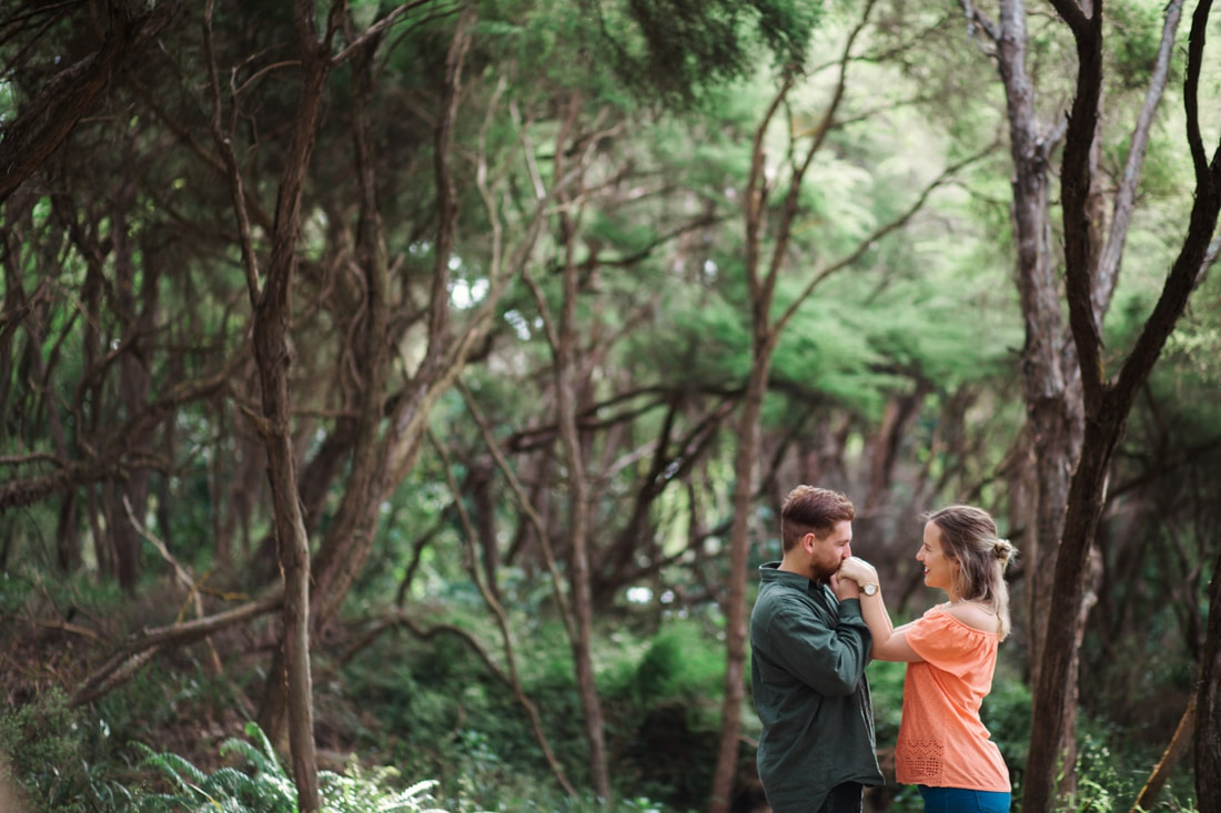 Rotorua Redwoods engagement wedding portrait